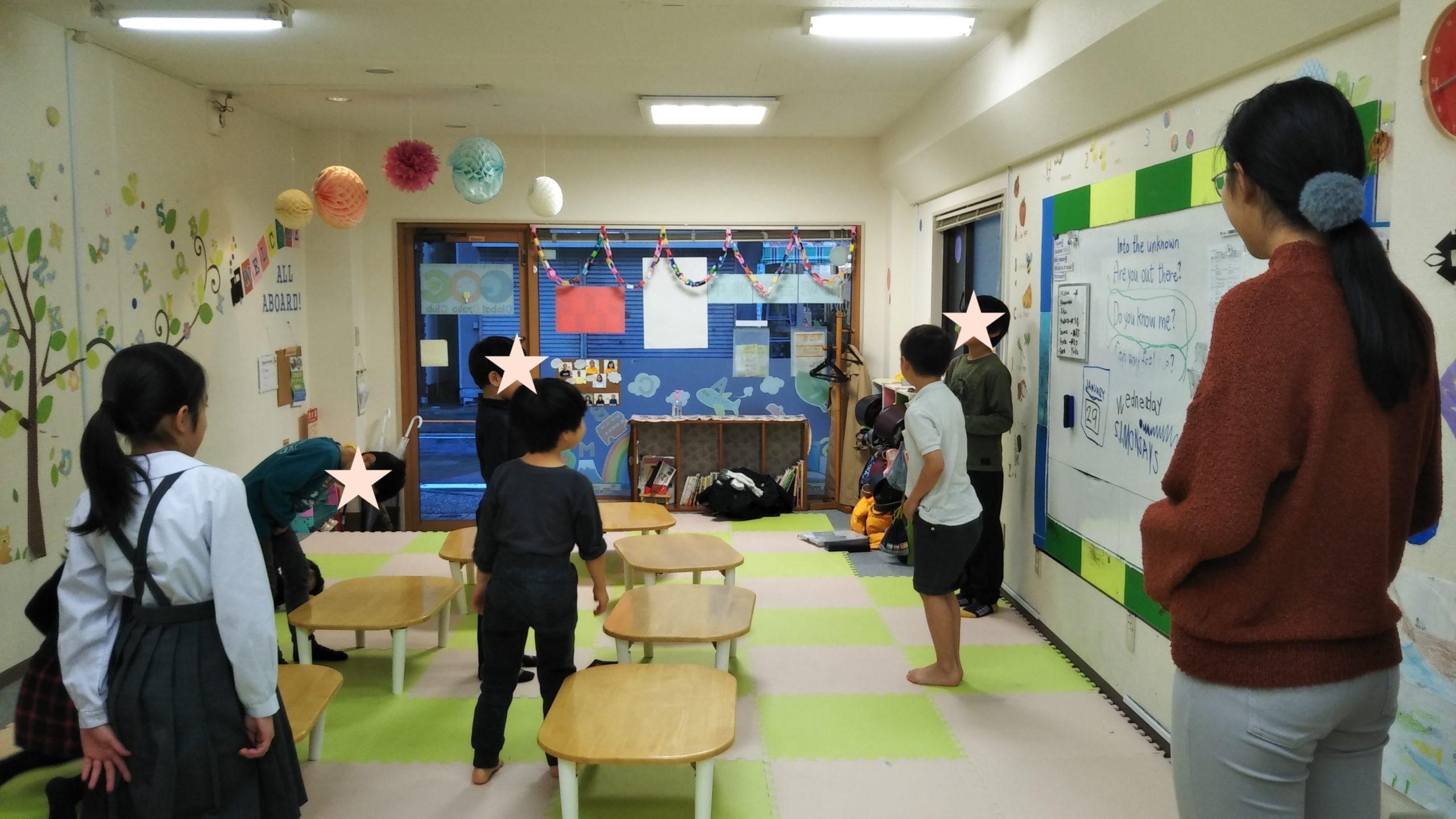 子どもたちが楽しく英語でゲームを進行!